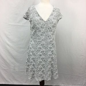 Skies Are Blue Grey Norelle Knit Lace Dress